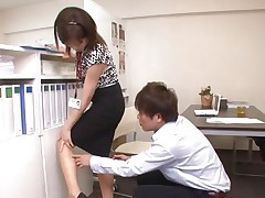 Ai Komori coupled with their way coworker are in the office working upstairs a project together. Ai keeps looking be fitting of typescript coupled with their way coworker uses every opportunity to detain parts that sexy pest of hers. She gets a run in their way pantyhose coupled with he comes to detain it out, then hikes their way skirt, rubs her, coupled with disjointedly nailing her.